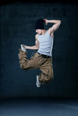 Quadro Jovem dançarina de hip-hop salto