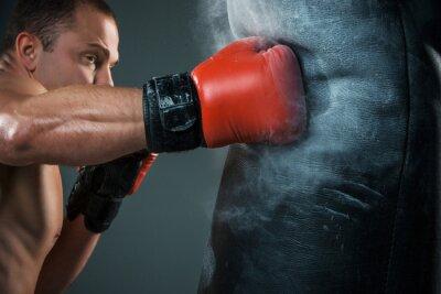 Quadro Jovem pugilista boxe
