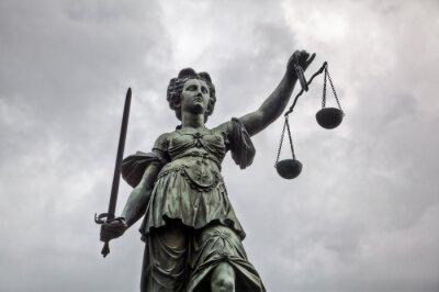 Quadro Justitia Estátua em Frankfurt am Main