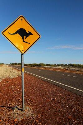 Quadro Kangaroo Sign in Austrália do Sul