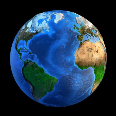 Quadro Landforms Planeta Terra