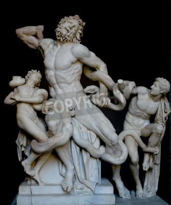 Quadro Laocoonte e seus filhos, famosa estátua grega clássica