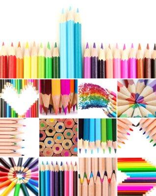 Quadro Lápis de cor colagem