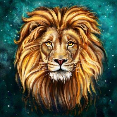 Quadro leão tlo