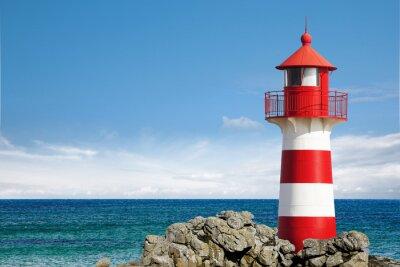 Quadro Leuchtturm am Ozean