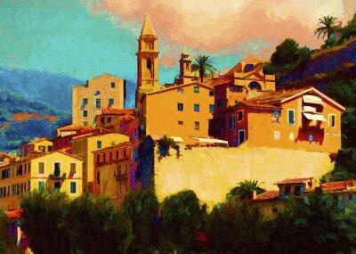 Quadro Liguria paisagem