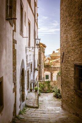 Quadro Linda rua de Cortona, Toscana