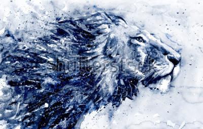 Quadro Lion 3 black&white