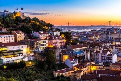 Quadro Lisboa à noite