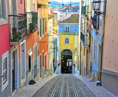 Quadro Lisboa funicular Bica