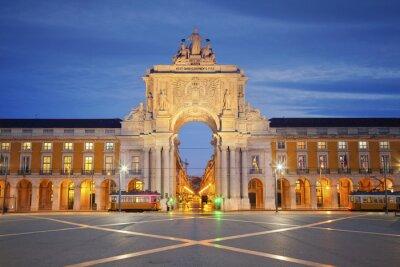 Quadro Lisboa. Imagem do arco do triunfo em lisboa, portugal.