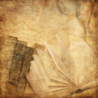 Quadro livros antigos