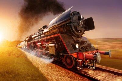 Quadro locomotiva a vapor