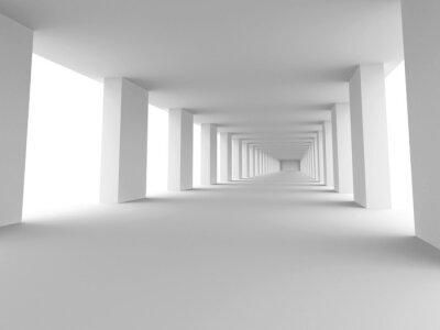 Quadro longo corredor
