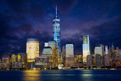 Quadro Lower Manhattan no crepúsculo, New York