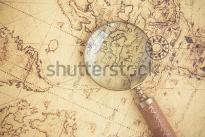 Quadro Lupa, mapas, finanças, negócios, turismo, exploração