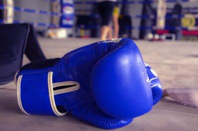 Quadro Luva de Boxe Azul