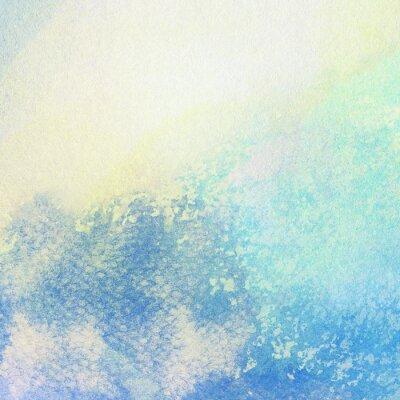 Quadro Luz, abstratos, azul, pintado, aguarela, espirra, fundo