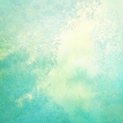 Quadro Luz, abstratos, azul, verde, pintado, aguarela, espirra, fundo