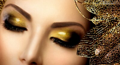 Quadro Makeup Moda Glamour.