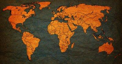 Quadro Malásia território no mapa de mundo