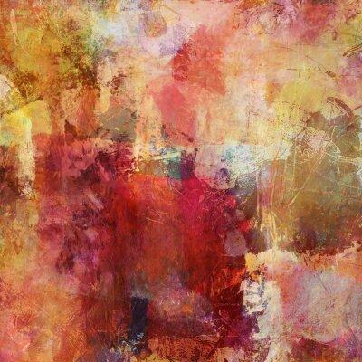 Quadro malerei Mischtechnik Herbstfarben