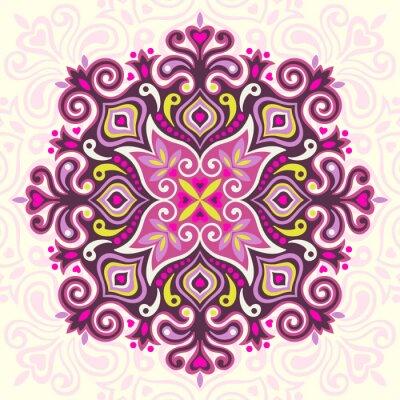 Quadro Mandala da flor. Elemento abstrato para o projeto