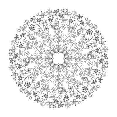 Quadro Mandala de ervas