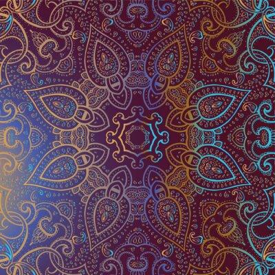 Quadro Mandala. Padrão decorativo indiano.