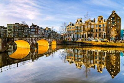 Quadro Manhã ensolarada em Amsterdã, Holanda