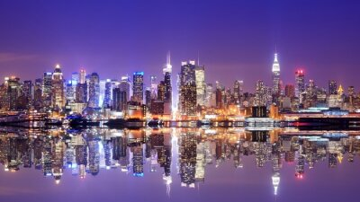 Quadro Manhattan Skyline com reflexões