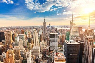 Quadro Manhattan vista aérea
