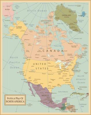 Quadro Map.Layers América-Norte altamente detalhados utilizados