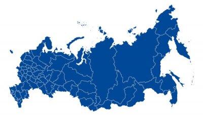 Quadro Mapa da Federação Russa