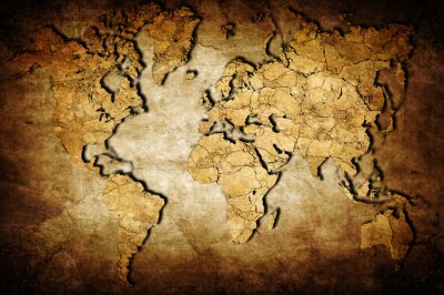 Quadro Mapa da terra