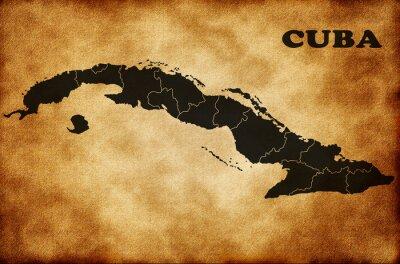 Quadro Mapa de Cuba