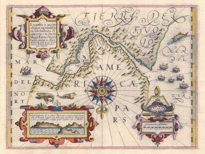 Quadro Mapa do Estreito de Magalhães