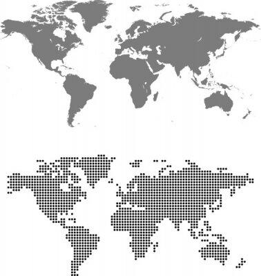 Quadro mapa do mundo
