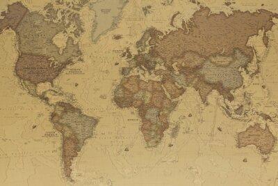 Quadro Mapa do mundo antigo