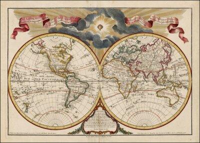 Quadro Mapa do mundo do vintage