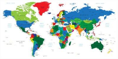 Quadro Mapa do Mundo-países