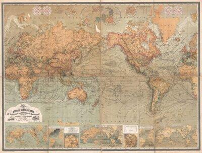 Quadro Mapa do vintage