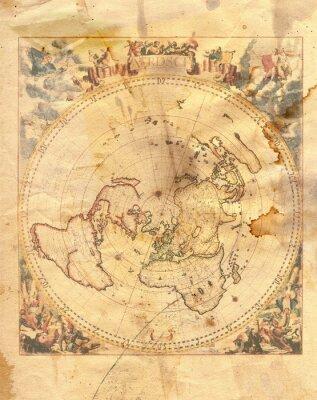 Quadro mapa do vintage do mundo