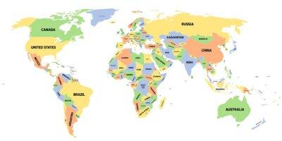 Quadro Mapa político do mundo