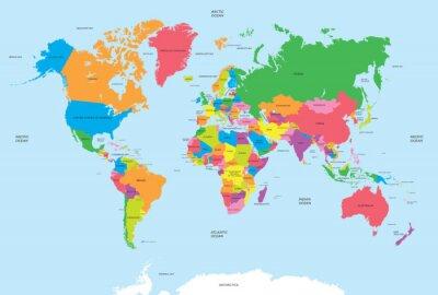 Quadro Mapa político do vetor do mundo