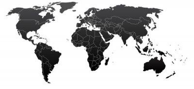 Quadro Mapa Político Mundial