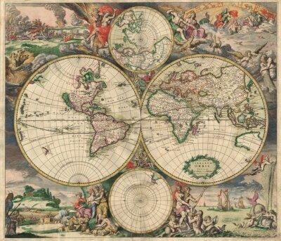 Quadro Mapa velho (1689)