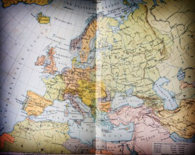 Quadro mapbook geográfica velho século XIX aberto