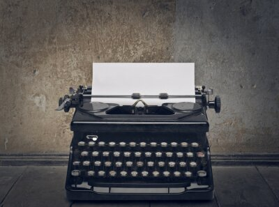 Quadro máquina de escrever