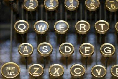 Quadro Máquina de escrever / chaves